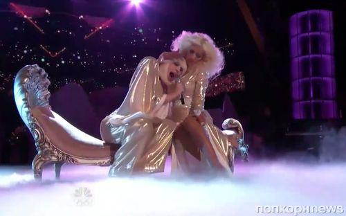 Кристина Агилера и Lady GaGa спели вместе на шоу The Voice