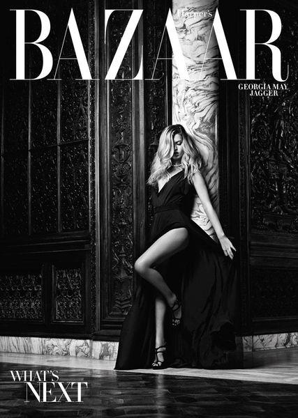 Дочка Мика Джаггера Джорджия Мэй в журнале Harper's Bazaar. Ноябрь 2010