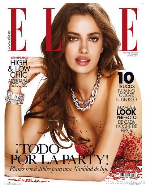 Ирина Шейк в журнале Elle Испания. Декабрь 2011