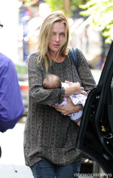 Ума Турман открыла длинное имя своей новорожденной дочери