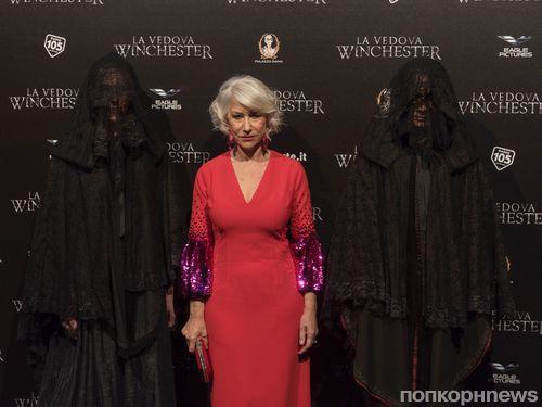 Хелен Миррен на премьере фильма ужасов «Винчестер» в Риме
