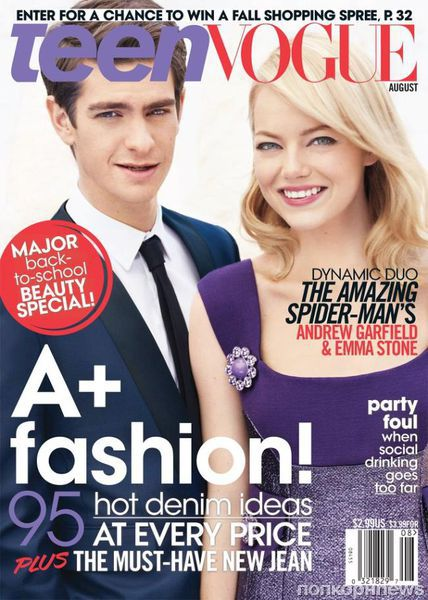 Эмма Стоун и Эндрю Гарфилд в журнале Teen Vogue. Август 2012