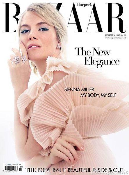 Сиенна Миллер в журнале Harper's Bazaar. Январь 2013