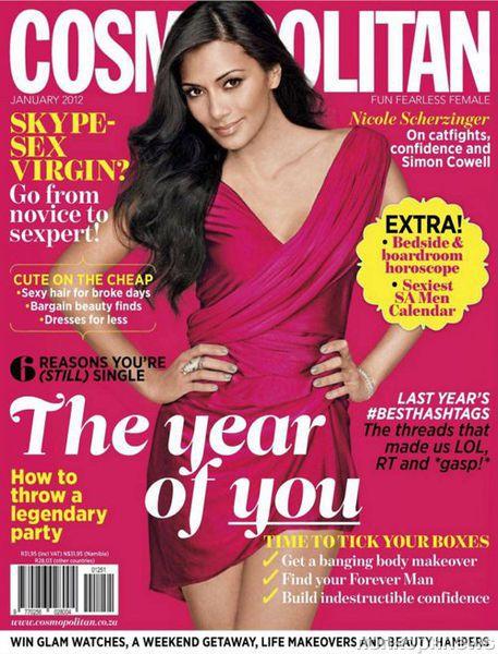 Николь Шерзингер в журнале Cosmopolitan Южная Африка. Январь 2012