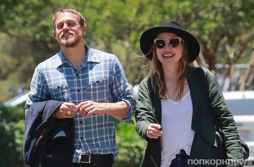 Редкий совместный выход: Чарли Ханнэм гуляет со своей девушкой по Лос-Анджелесу