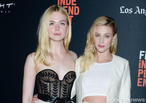 Фото: Эль Фаннинг и Лили Рейнхарт на премьере «Галвестона» в Лос-Анджелесе