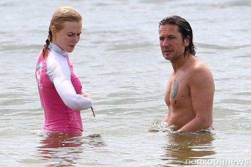 Николь Кидман и Кит Урбан на пляже в Сиднее