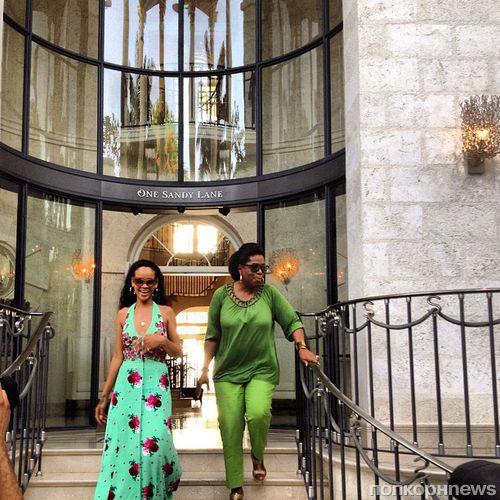 Опра Уинфри навестила Рианну на Барбадосе