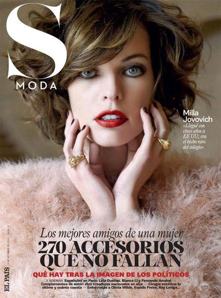 Милла Йовович в журнале S Moda Испания. Ноябрь 2011