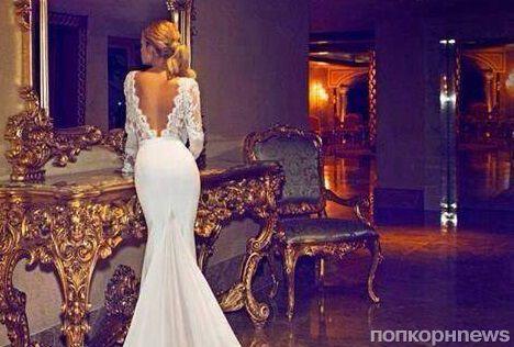 Первое фото Дженнифер Энистон  в свадебном платье появилось в сети