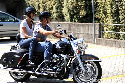 Джордж Клуни и Стейси Киблер на отдыхе в Италии