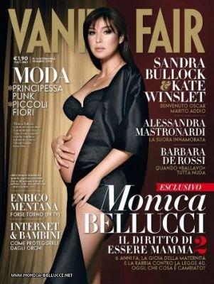 Беременная Моника Беллуччи на обложке итальянского Vanity Fair. Интервью