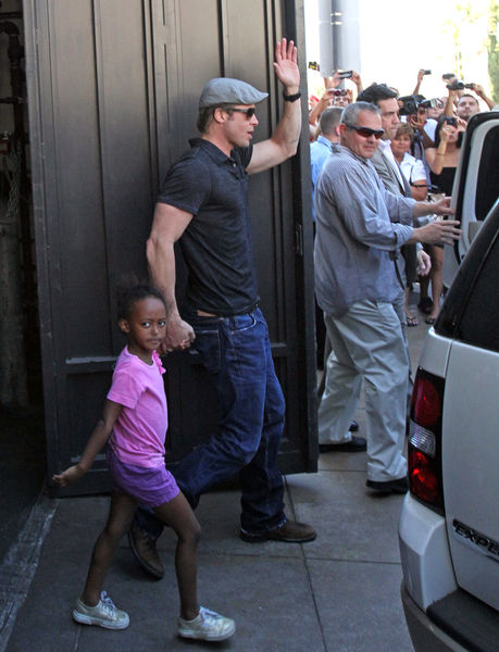 Брэд Питт создал хаос на улице Лос-Анджелеса