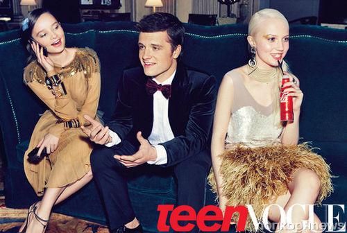 Джош Хатчерсон в журнале Teen Vogue. Март 2012
