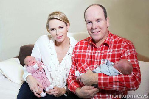 Принц Альберт и принцесса Шарлен показали новорожденных детей