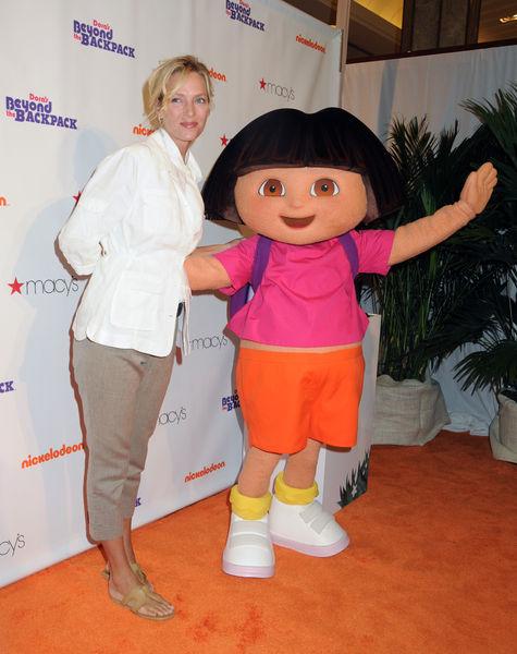 Ума Турман на вечеринке Nickelodeon