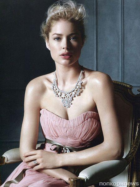 Даутцен Крез в рекламной кампании Tiffany & Co