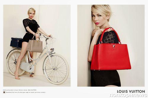 879ad8609580 Мишель Уильямс в рекламной кампании сумок Louis Vuitton 2014