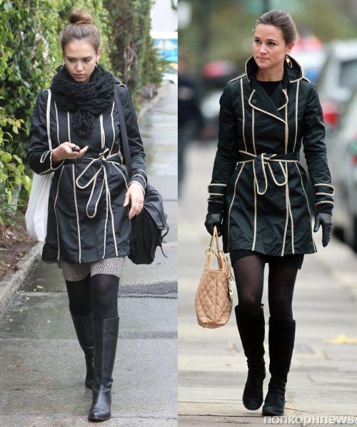 Fashion battle: Джессика Альба и Пиппа Миддлтон