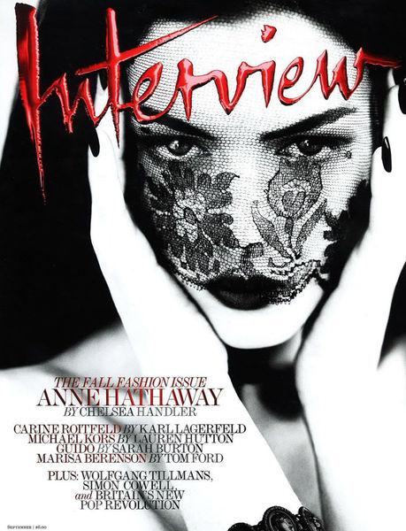 Энн Хэтэуэй для журнала Interview. Сентябрь 2011