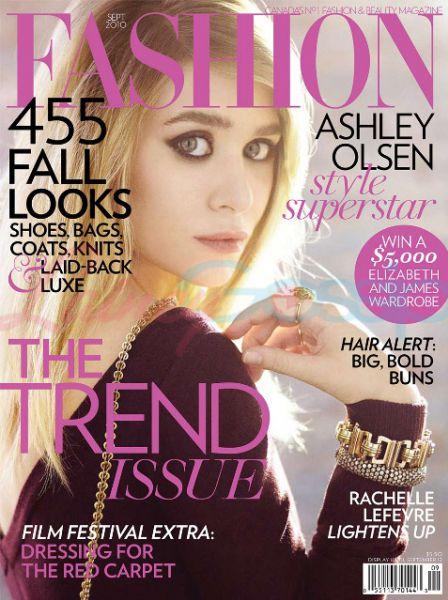 Эшли Олсен в журнале Fashion. Сентябрь 2010
