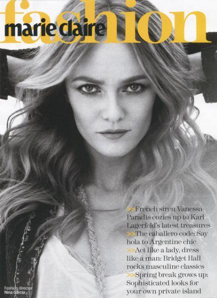 Ванесса Паради в журнале  Marie Claire US. Май 2010