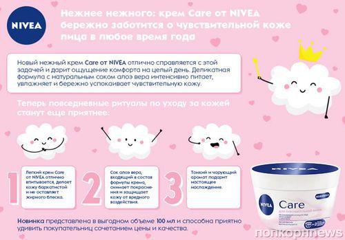 С нежностью от NIVEA: новый крем Care для чувствительной кожи лица