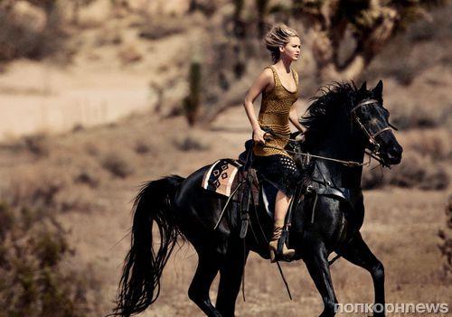 Дженнифер Лоуренс в фотосессии для Vogue, декабрь 2015