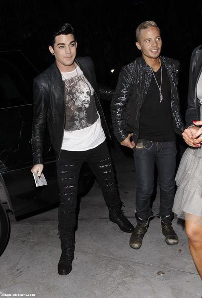 Адам Ламберт со своим бойфрендом в Лос-Анджелесе
