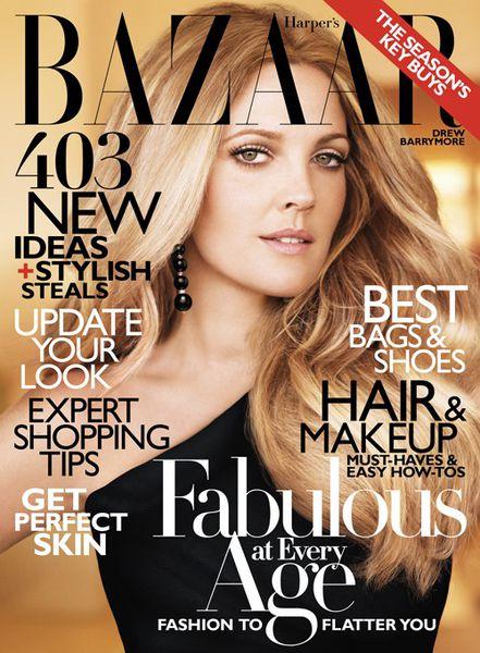 Дрю Бэрримор в журнале Harper's Bazaar. Октябрь 2010