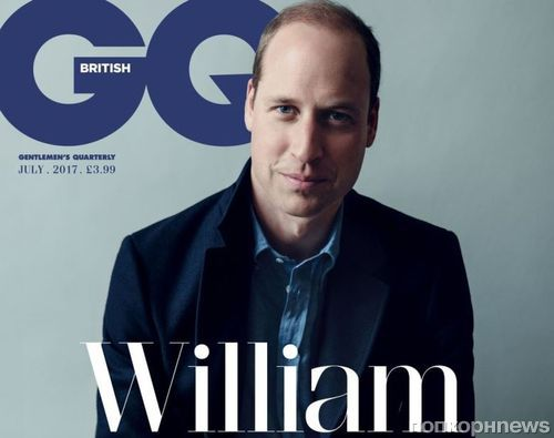 Принц Уильям снялся для обложки британского GQ