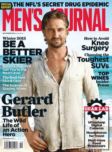 Джерард Батлер в журнале Men's Journal. Ноябрь 2012