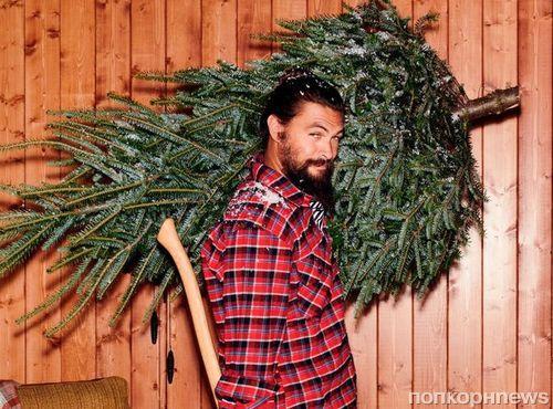 Джейсон Момоа готовится к Рождеству в новой фотосессии для Shortlist