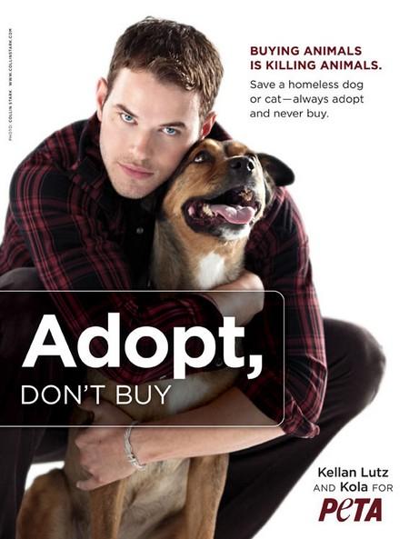 Келлан Латс в рекламе PETA