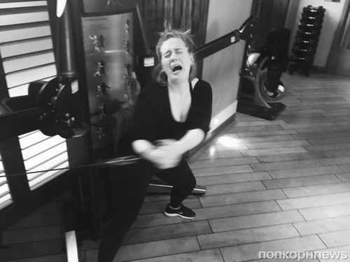 Адель не смогла сдержать слез в тренажерном зале