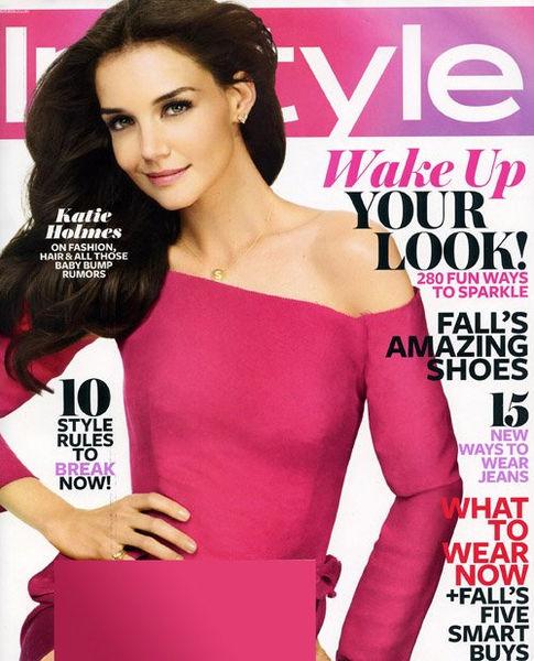 Кэти Холмс в журнале InStyle. Август 2011