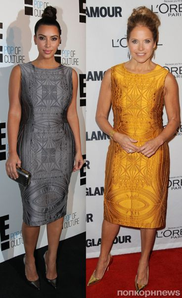 Fashion battle: Ким Кардашиан и Кэти Коурик