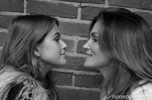Синди Кроуфорд с дочерью в фотосессии для Chrome Hearts