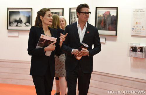 Анджелина Джоли и Брэд Питт на саммите против сексуального насилия в Лондоне