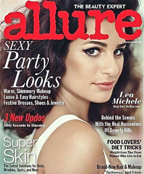Лиа Мишель в журнале Allure. Декабрь 2011