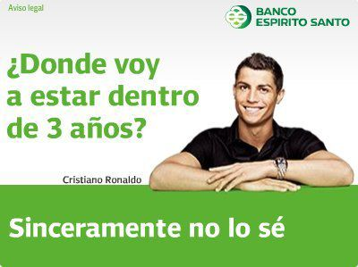 Криштиану Роналду в рекламе банка BES