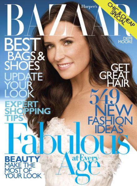 Деми Мур в журнале Harper's Bazaar. Апрель 2010