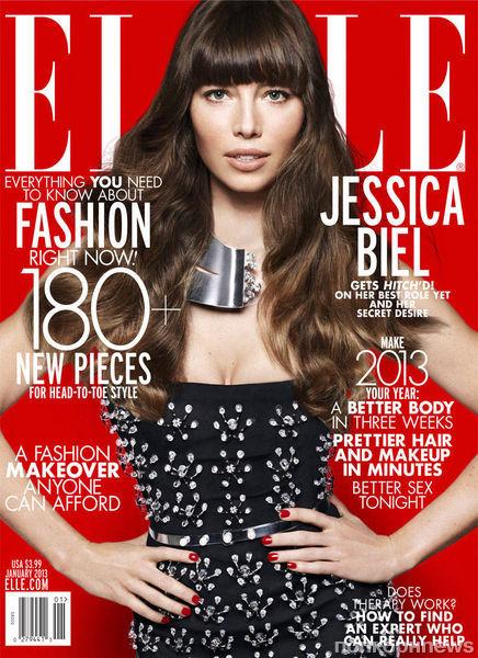 Джессика Бил в журнале Elle. Январь 2013