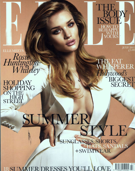 Роузи Хантингтон-Уайтли в журнале Elle. Июль 2011