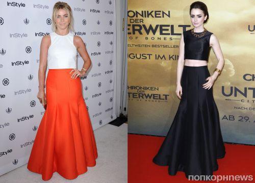 Fashion battle: Джулианна Хаф и Лили Коллинз