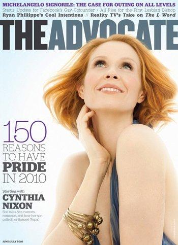 Синтия Никсон в The Advocate. Июнь/июль 2010