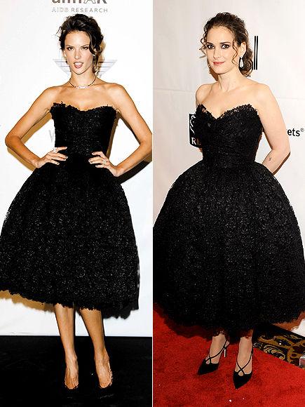 Fashion Battle: Алессандра Амбросио и Вайнона Райдер