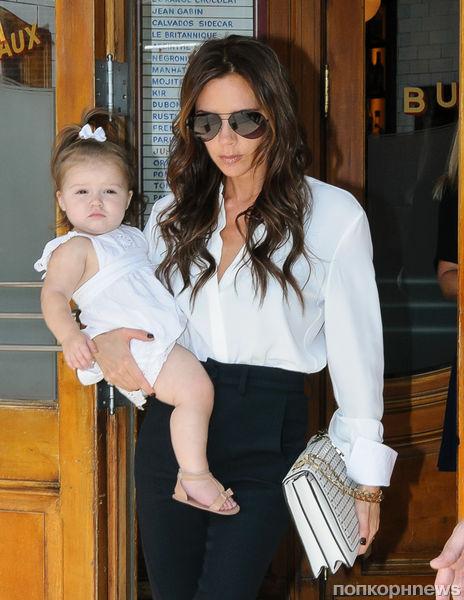 Певрая неделя моды в Нью-Йорке для дочери Виктории Бэкхем