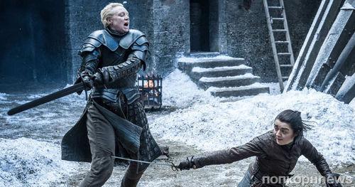 Мэйси Уильямс тренируется драться на мечах для съемок 8 сезона «Игры престолов»