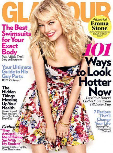 Эмма Стоун в журнале Glamour. Май 2011